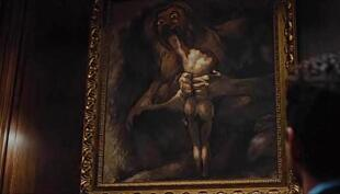 Saturn Devouring His Children painting by Francisco José de Goya in Wall Street: Money Never Sleeps