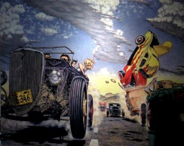 Hot Rod Race painting by Robert Williams in Vanilla Sky movie