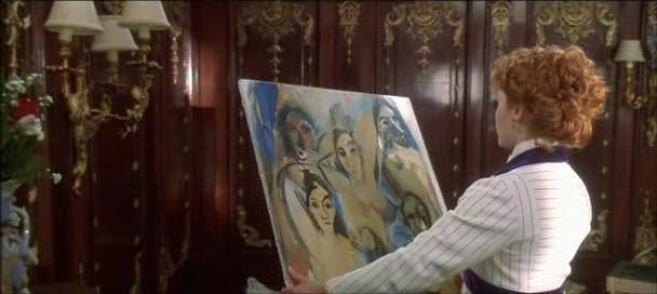The Young Ladies of Avignon painting by Pablo Picasso in Titanic  movie