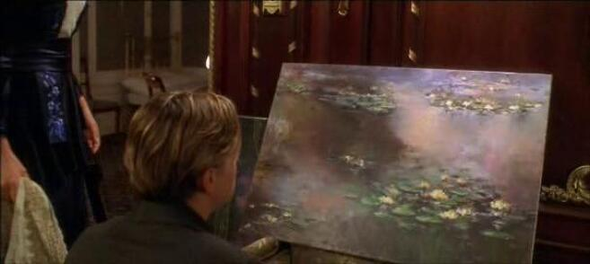 Water Lilies painting by Claude Monet in Titanic  movie
