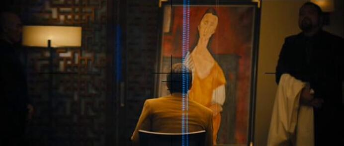 Woman with a Fan painting by Amedeo Clemente Modigliani in Skyfall movie