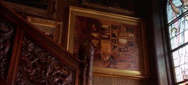 Gallery of the Louvre painting by Samuel F. B. Morse in The Age of Innocence movie