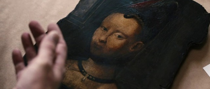 Portrait of a Young Girl painting by Petrus Christus in La Migliore offerta movie