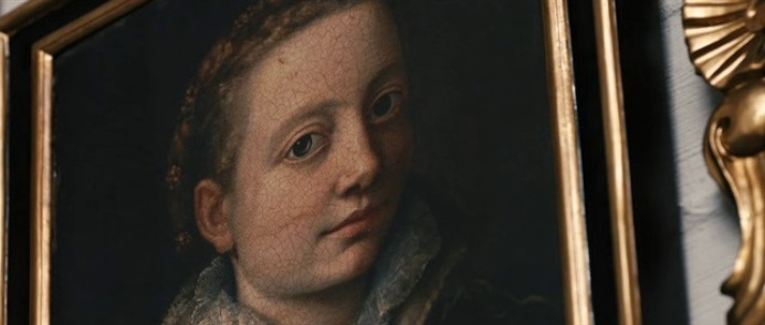 Portrait of Minerva Anguissola painting by Sofonisba Anguissola in La Migliore offerta movie