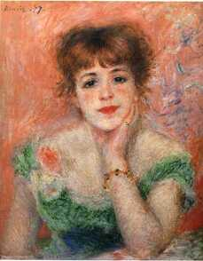 Jeanne Samary in a Low Necked Dress painting by Pierre-Auguste Renoir in La migliore offerta movie
