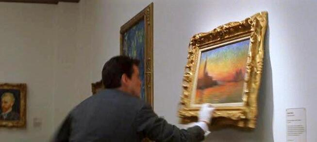 San Giorgio Maggiore at Dusk painting by Claude Monet in The Thomas Crown Affair movie