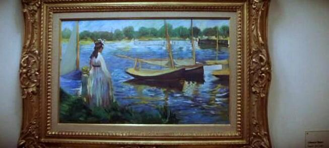 The Banks of the Seine at Argenteuil painting by Edouard Manet in The Thomas Crown Affair movie