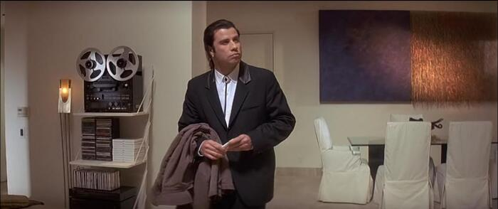 unrecognized painting by  in Pulp Fiction  movie
