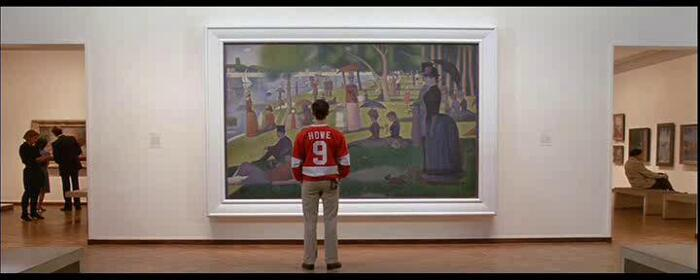 A Sunday Afternoon on the Island of La Grande Jatte painting by Georges Seurat in Ferris Bueller\'s Day Off movie