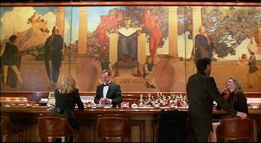 Old King Cole painting by Maxfield Parrish in The First Wives Club movie