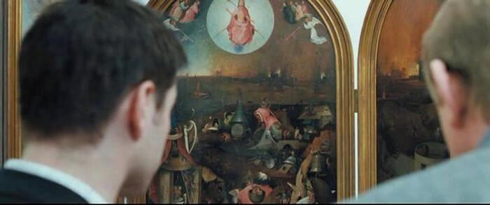 Last Judgement painting by Hieronymus Bosch in In Bruges movie