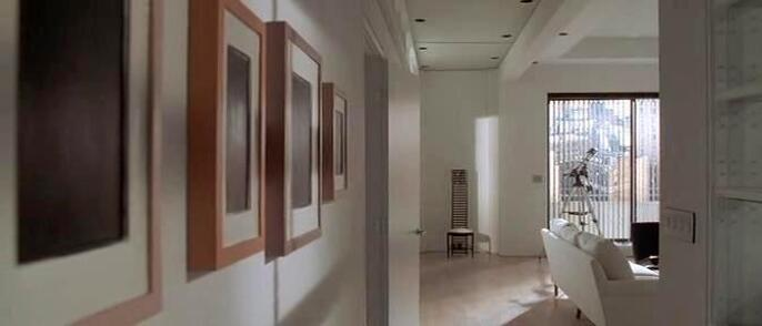 Plaster Surrogates painting by Allan McCollum in American Psycho movie