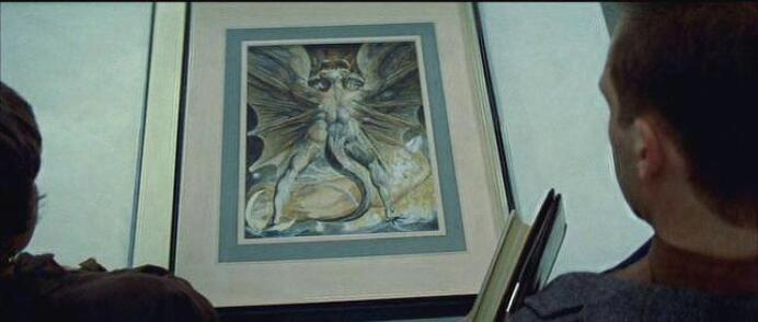 The Great Red Dragon and the Woman Clothed with the Sun painting by William Blake in Red Dragon movie