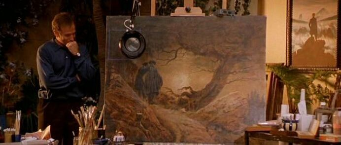 Two Men Contemplating the Moon painting by Caspar David Friedrich in What Dreams May Come movie