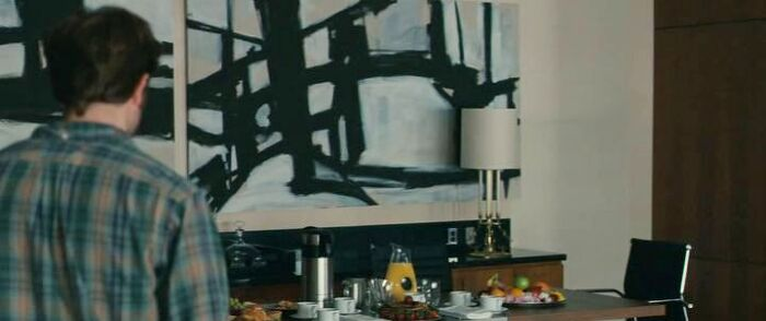 unknown title painting by Franz Kline in Remember Me movie