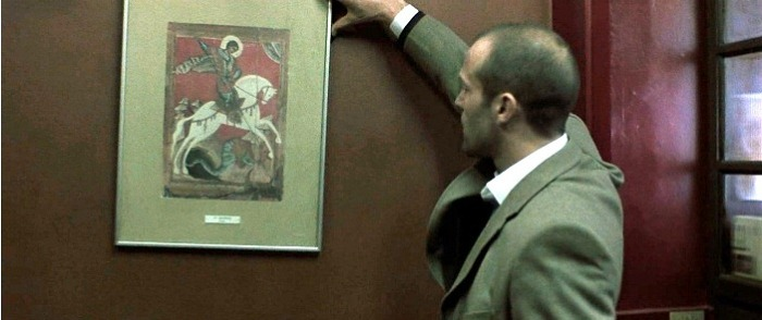 Miracle of St George and the Dragon. Novgorod painting by Unknow in Snatch movie