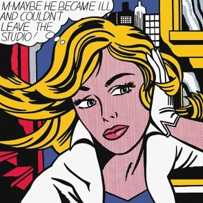 M-Maybe painting by Roy Lichtenstein in Entrapment movie