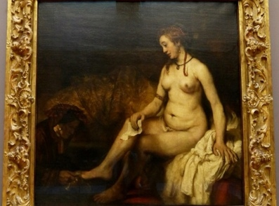 Bathsheba with King David\'s Letter painting by Rembrandt van Rijn in Entrapment movie