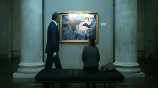 Little Girl in a Blue Armchair painting by Mary Cassatt in House of Cards movie